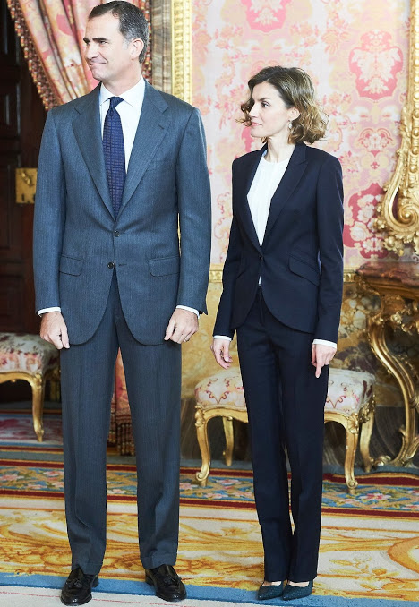 King Felipe And Queen Letizia Attended Meeting At The Princesa De Girona Foundation