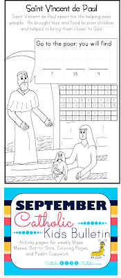 Saint Vincent de Paul Coloring Page Catholic Kids Bulletin