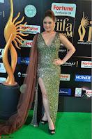 Nikesha Patel in Glittering Leg Split Deep Neck Green Gown at IIFA Utsavam Awards 2017     09.JPG