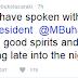True Or False: See What Bukola Saraki said About Him Speaking With The President
