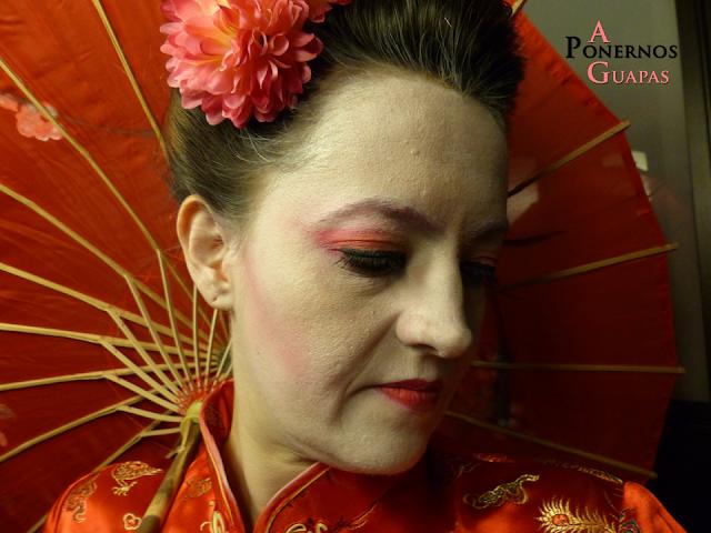 Maquillaje de geisha Carnaval A Ponernos Guapas