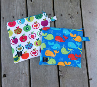 apple and whale sandwich bags