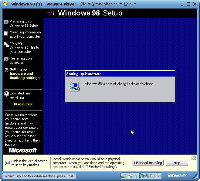 Langkah-Langkah Menginstall Windows 98 dengan VM Ware