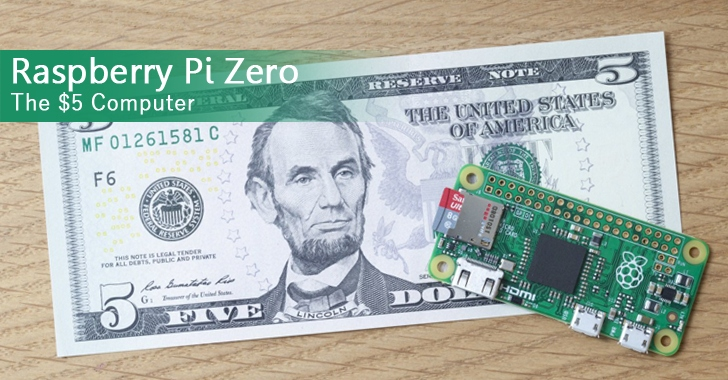 Raspberry Pi Zero — The $5 Tiny Computer is Here