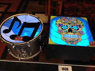Stained Glass Drum Head/Speaker Cabinet Grills image from Bobby Owsinski's Big Picture production blog