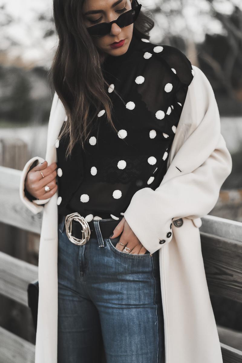blusa de topos zara