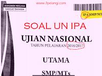 Download Soal UN IPA SMP/MTs Tahun Pelajaran 2016/2017