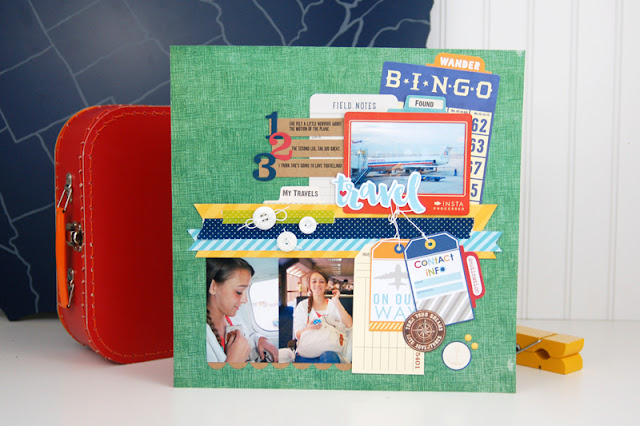 Travel Scrapbooking Process Video with Jen Gallacher. Video and supplies are included. #scrapbooking #travelscrapbooking