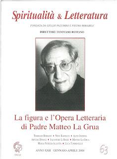 """Recuperi/19 - """"AA.VV., """"La figura e l'Opera Letteraria di Padre Matteo La Grua"""", Spiritualità & Letteratura, n. 63"""""""