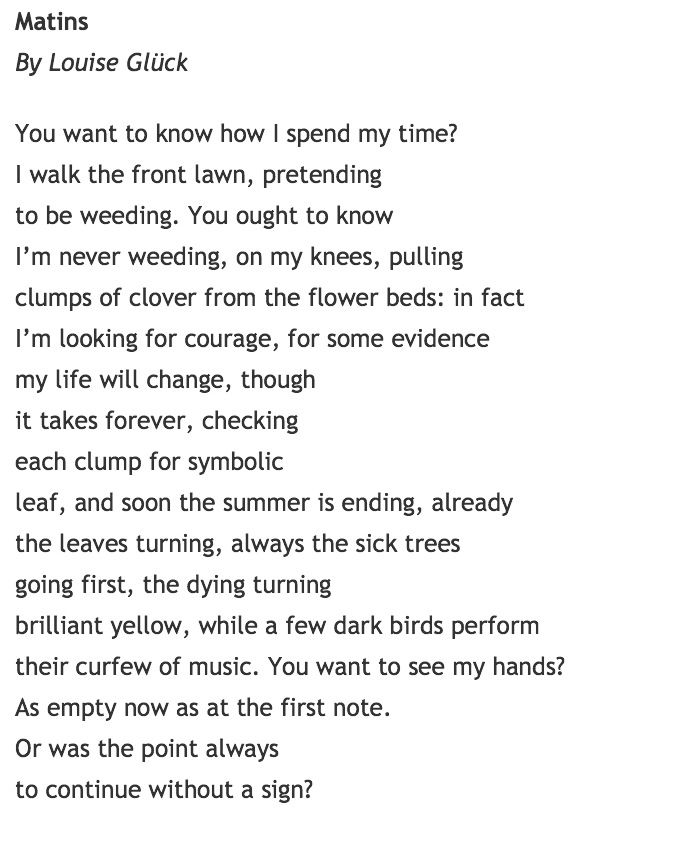 Sheila Packa Poetry Blog Louise Gluck