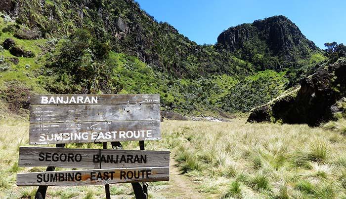 Segara Banjaran Gunung Sumbing via Banaran