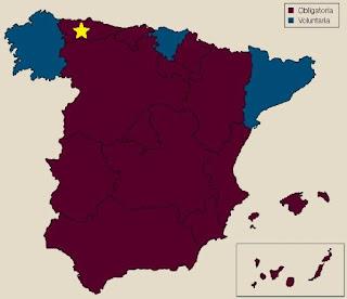 Mapa España Vacunación de la Rabia
