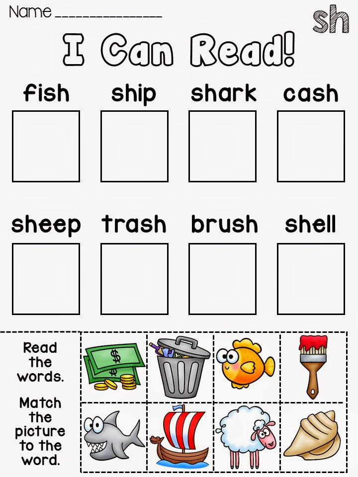 Secret Word Literacy Station Phonics Picture Worksheets
