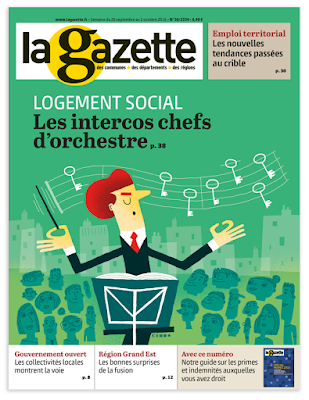 Clod illustration couverture Gazette des Communes logement social