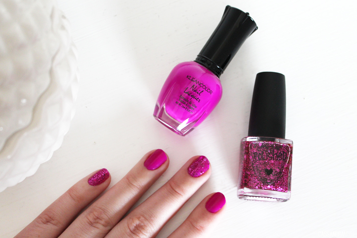 NOTD // Kleancolor Grape Burst + Factorie Moulin Rouge Glitz - CassandraMyee