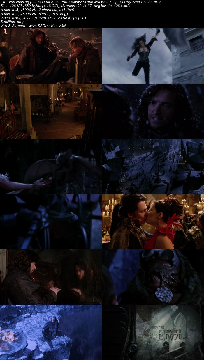 Van Helsing (2004) Dual Audio Hindi 480p BluRay x264 400MB ESubs Movie Download