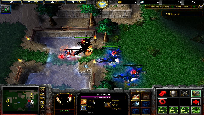 nevermore vs mirana warcraft 3 tft map dota utilities