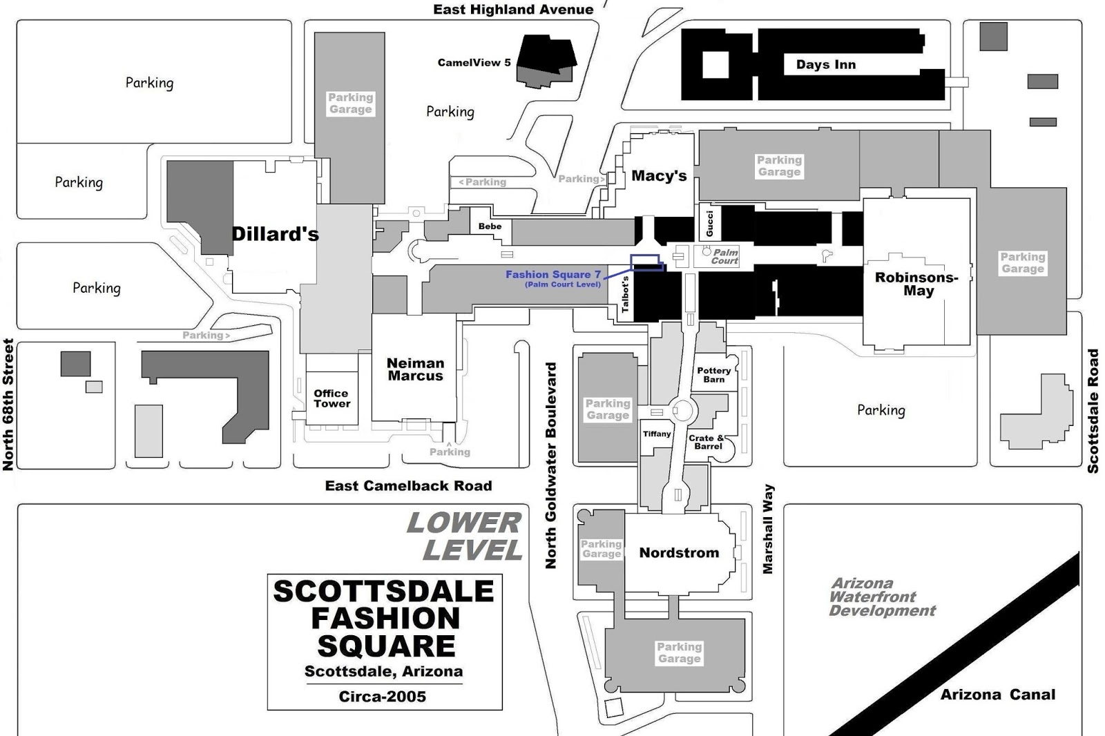 mall hall of fame october 2007 the bulk of the post 1980s mall consists of 2 retail floors the lower and upper levels a section lying between macy s and crate barrel also has a