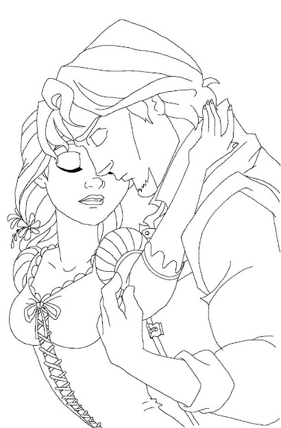 Rapunzel Wedding Coloring Papges  Download Flynn Coloring Pages At    Resolution