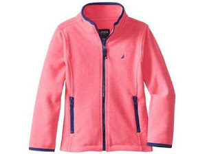 Nautica Girls Polar Fleece Front Zip Jacket
