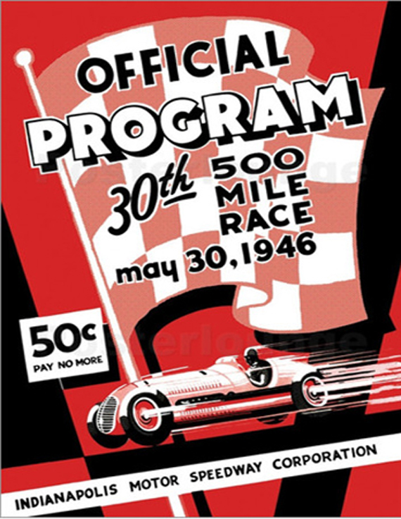 retro graphic design, car races vintage posters