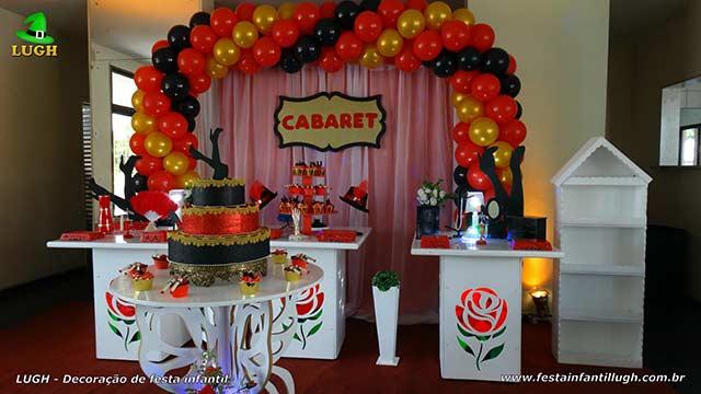 Decoração de festa de aniversário tema Cabaret