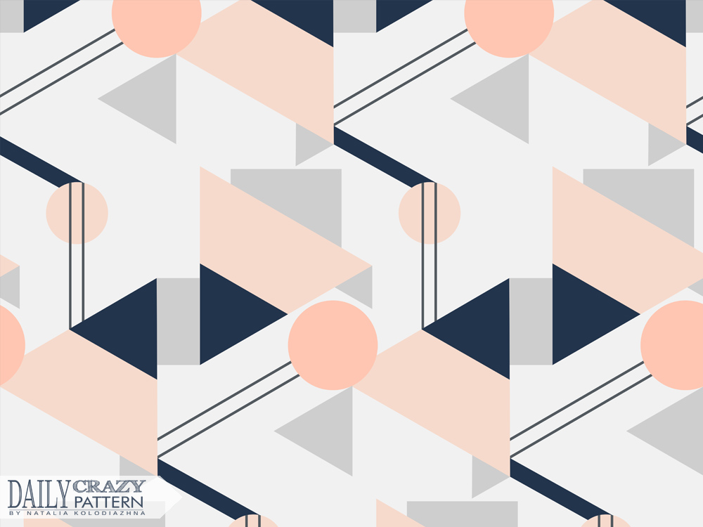 "Stylish geometric pattern for ""Daily Crazy Pattern"" project"