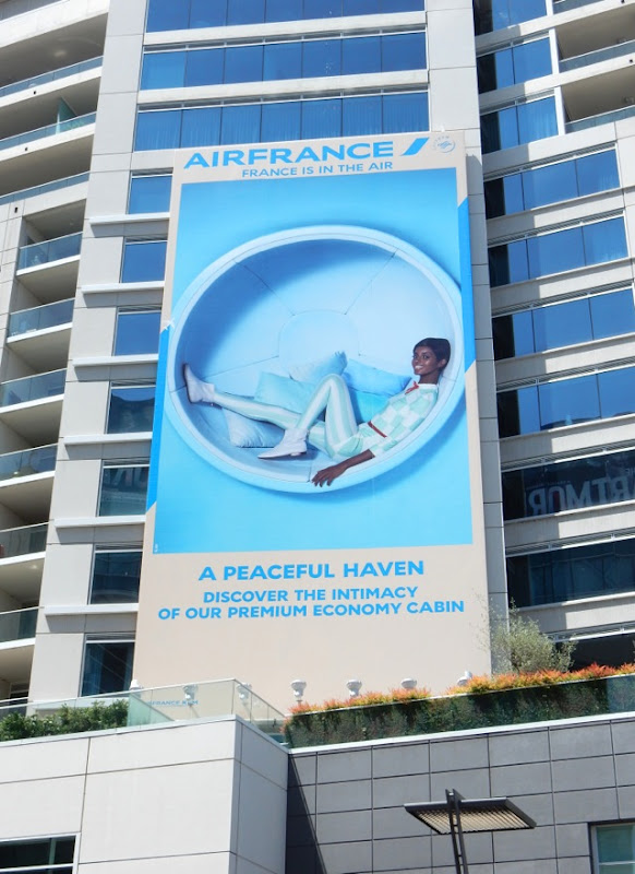 Air France peaceful haven Premium Economy Cabin billboard