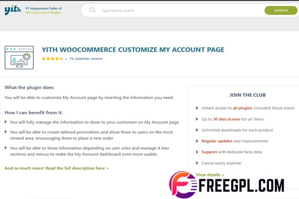 YITH WooCommerce Customize My Account Page Free Download