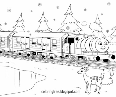 Teenage activities color online winter drawing ideas for Christmas post train coloring printables