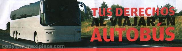 Tus derechos al viajar en autobús - TARIFAS Y HORARIOS - VIAJE SEGURO - DESCUENTOS