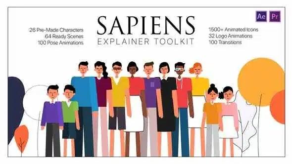 Videohive Sapiens Explainer Toolkit AE & PR MOGRTs 26675596