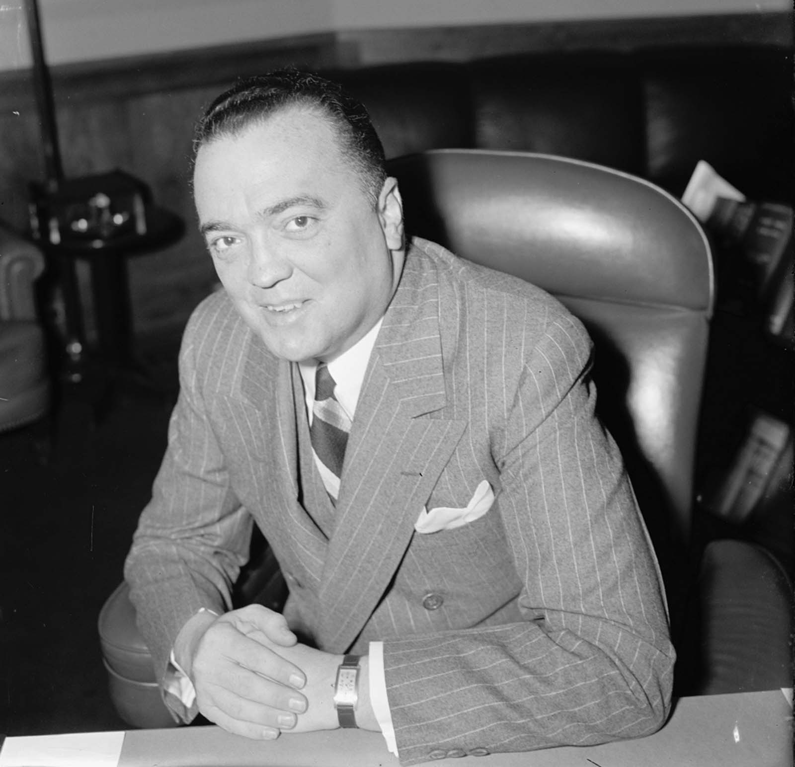 J. Edgar Hoover, boss of FBI, had files on everyone. If you even visited Washington, D.C., he knew that you had flipped off that teacher in third grade. It gave him... leverage.