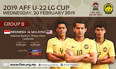 Live Streaming Indonesia vs Malaysia AFF U22 20.2.2019