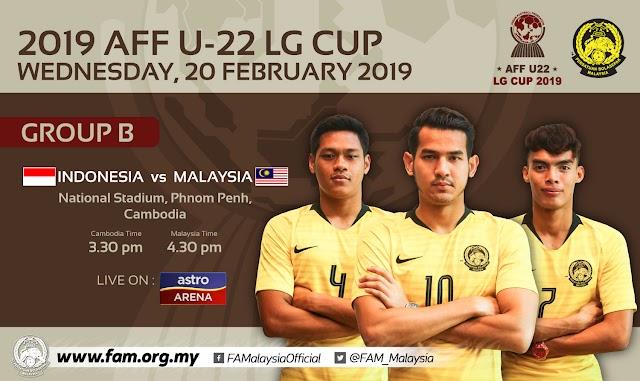 Live Streaming Indonesia vs Malaysia AFF U22 20.2.2019
