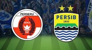 Perseru Serui vs Persib Bandung - Ezechiel, Bauman, Inkyun Absen.