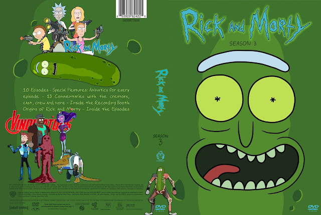 Rick And Morty Season 3 DVD Cover