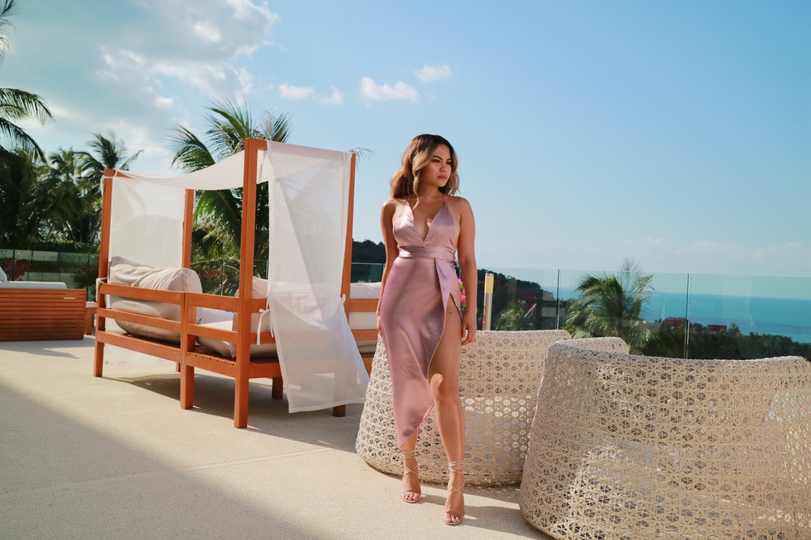 The Tropical Mauve Dress