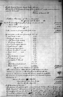 Jacob Spitler's Sale Bill, Augusta Co., VA, WB 40, page 219