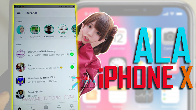 Bosan dengan tampilan aplikasi Whatsapp yang itu Khusus Buat Kamu Pengguna Smartphone Xiaomi yang Ingin Tampilan Whatsapp ala iPhone X: Dijamin Tanpa Root