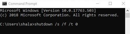 Complete Shutdown dengan CMD