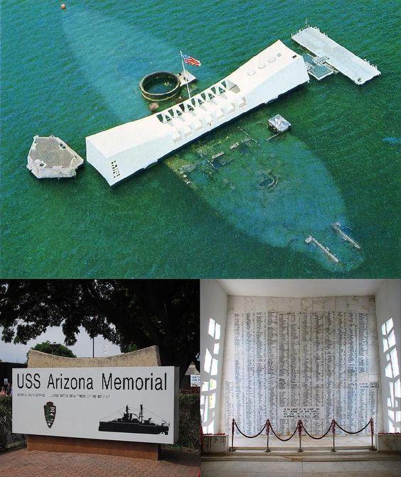 Pearl Harbor and USS Arizona Memorial, Hawaii, USA