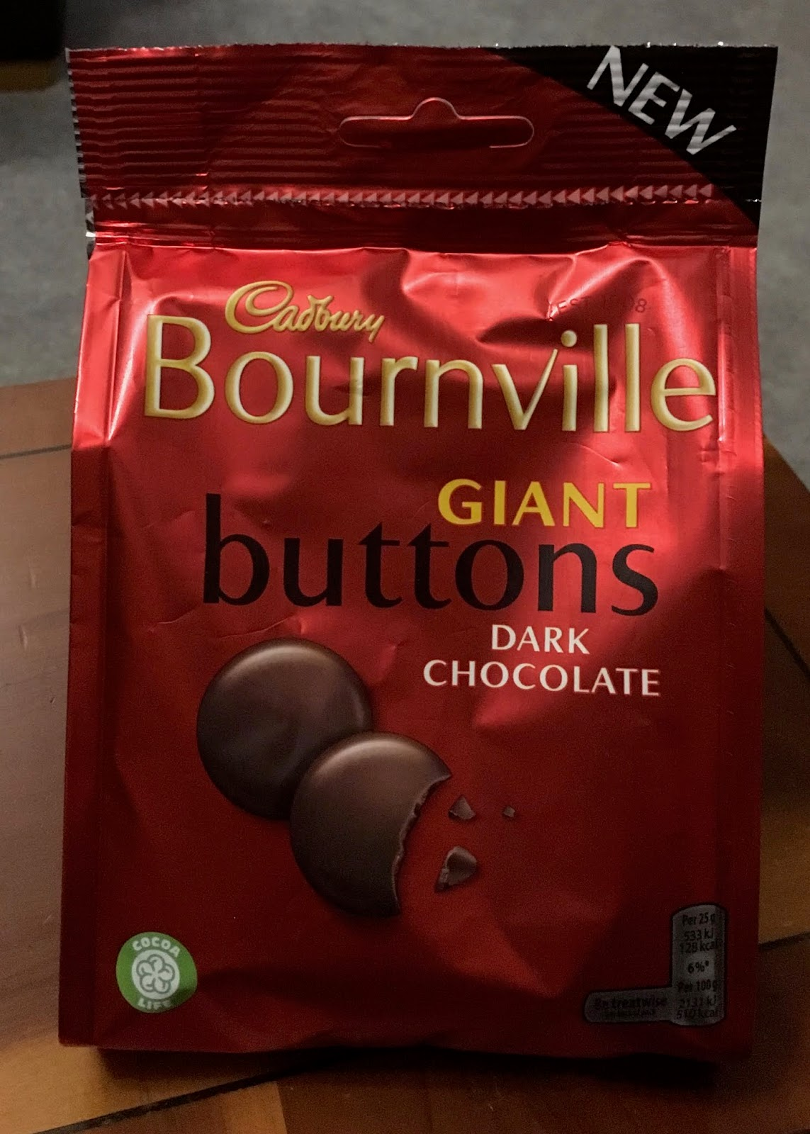 Foodstuff Finds New Cadbury Bournville Giant Buttons Asda