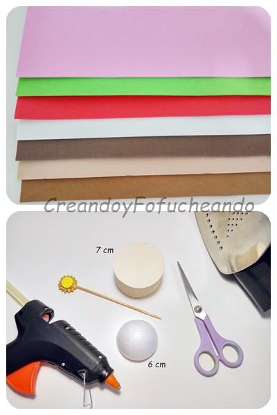 materiales-diy-cupcake-con-corazones-en-goma-eva-creandoyfofucheando