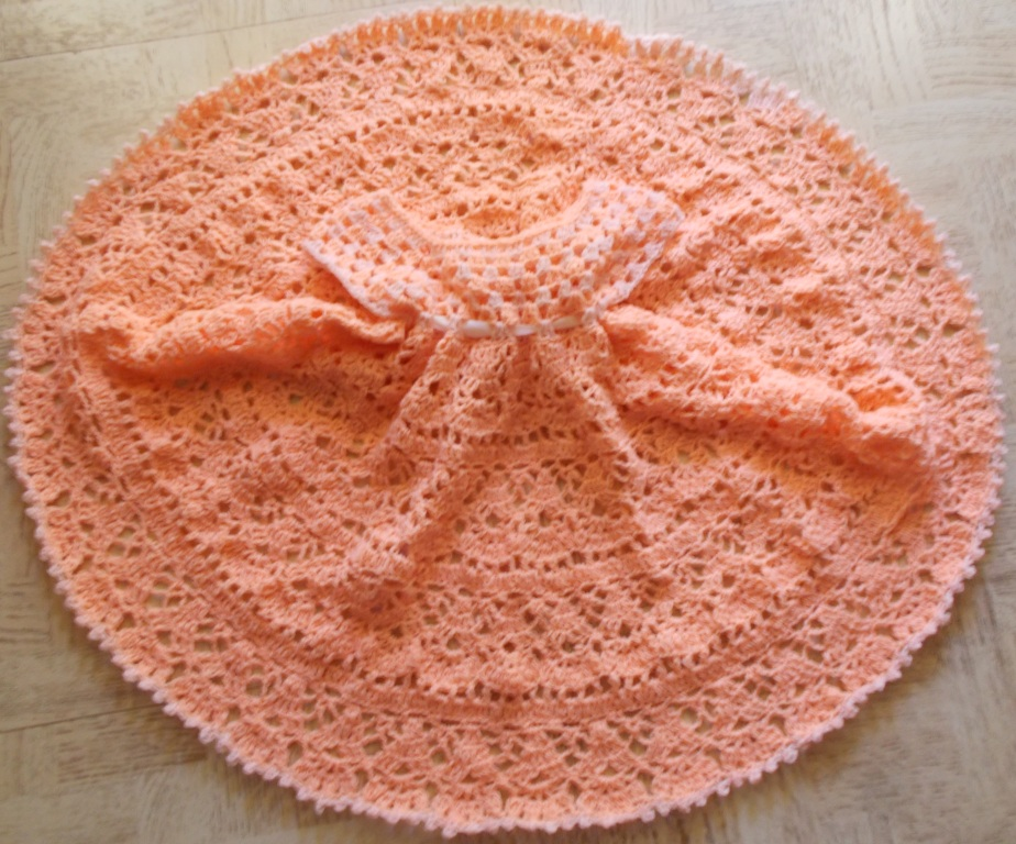 Sweet Nothings Crochet Frilly N Cute Lil Girls Dress