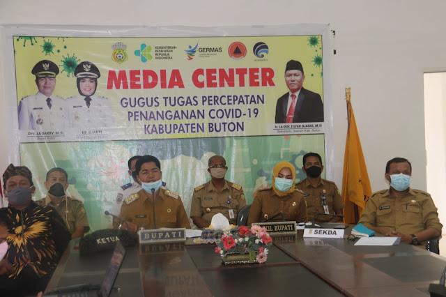 La Bakry Ikut Rakor VIdeo Conference Penanganan COVID-19 se Sulawesi Tenggara
