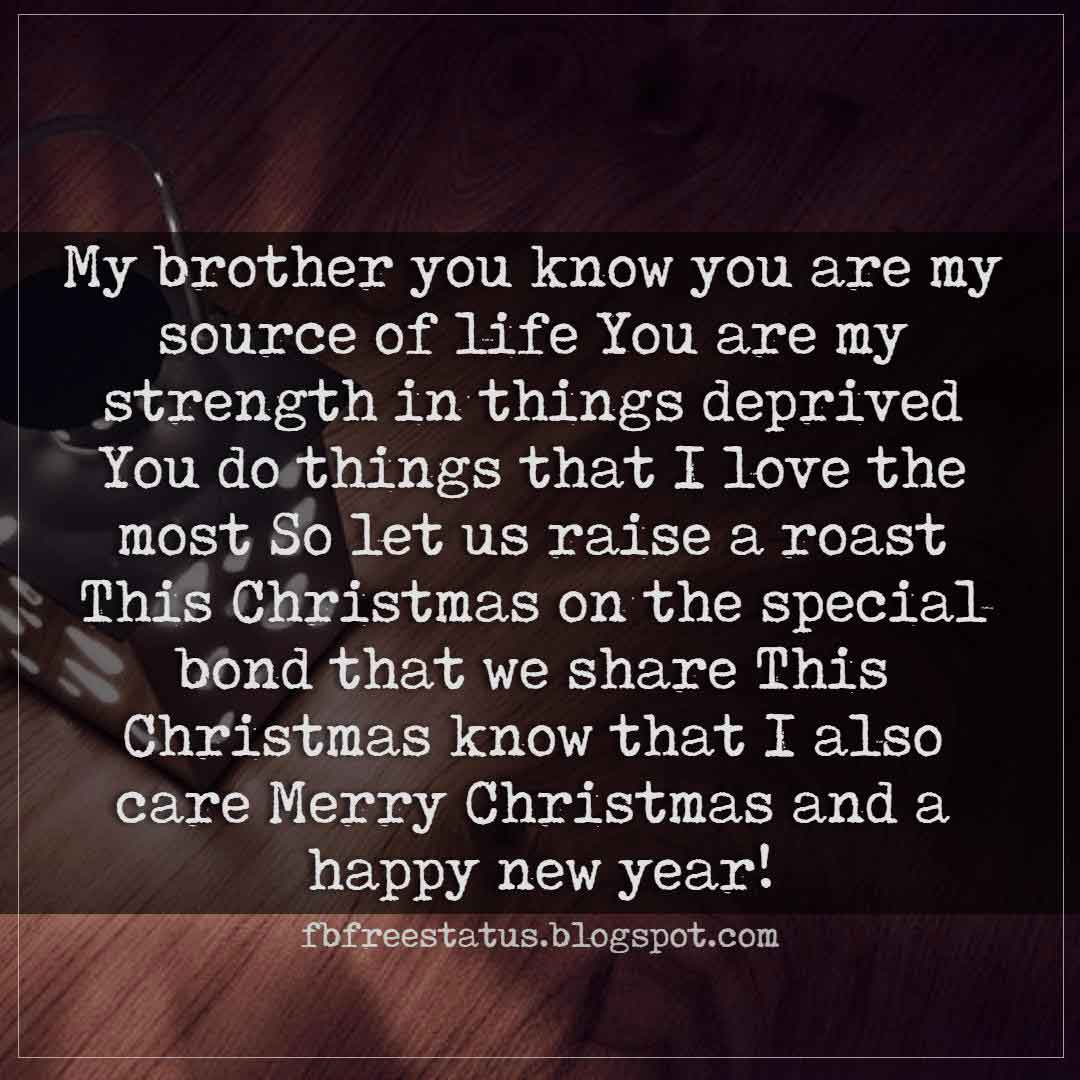 Christmas Wishes Greetings For Brother