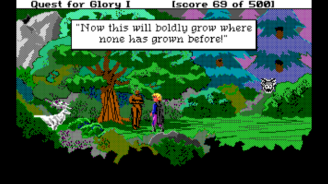 Screenshot from Quest for Glory 1 (EGA)