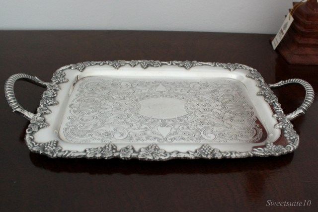 Polished small silver tray