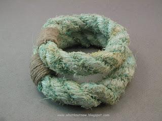 rope bracelets grommet bracelets pair massive soft bangles marlinspike art